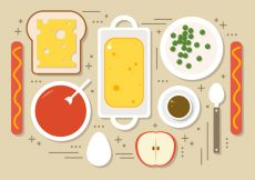 Free vector Flat Foods Vector Illustration #19311