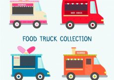 Free vector Food truck pack with classic style #23231