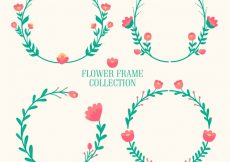Free vector Four floral frames, cute flowers #22679