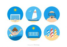 Free vector Free Beach Activities Vector Icons #20884