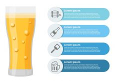 Free vector Free Beer Infographic Vector #21931