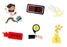 Free vector Free Business Man Running Going To Work Vector #23020