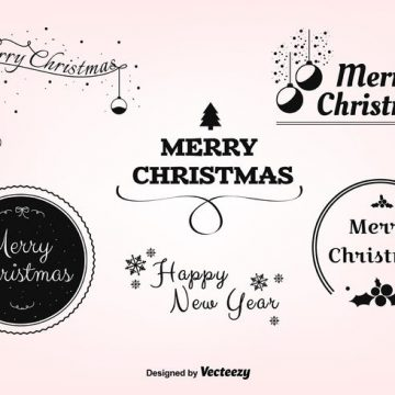 Free vector Free Christmas Vector Labels #22664