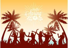 Free vector Free Dancing On The Beach Vector Illustration #22562