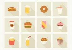 Free vector Free Fast Food Vector Icons #19396
