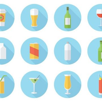 Free vector Free Flat Drink Vector Icon Set #20474