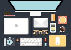 Free vector Free Modern Office Interior Vector Background #20095