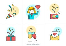 Free vector Free Party Vector Icons #23257