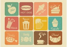 Free vector Free Retro Drink And Food Vector Icons #19321