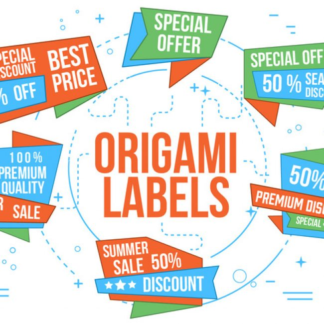 Free vector Free Vector Origami Labels #19736 : My Graphic ...