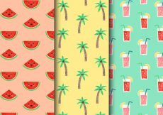 Free vector Free Vintage Summer Holiday Patterns #21497