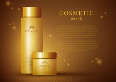 Free vector Golden background of cosmetics #21440