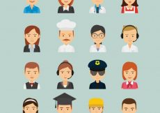 Free vector Great variety of workers avatars #22253