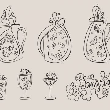 Free vector Hand Drawn Sangria Vector Set #22976