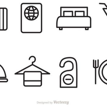 Free vector Hotel And Travel Vector Icons #22580