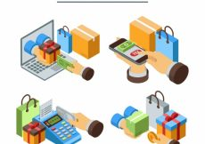 Free vector Isometric set of payment methods #22959