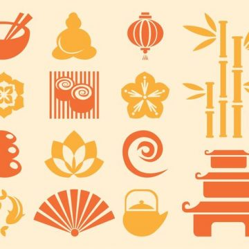 Free vector Japanese Icons Vector #22480