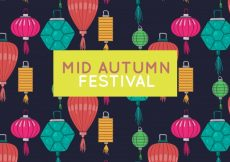 Free vector Middle autumn festival, full color lanterns #21758