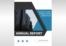 Free vector Modern blue corporate annual report design #21378