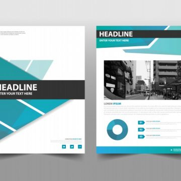 Free vector Modern corporate book cover concept #21093