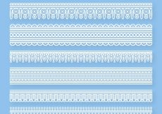 Free vector Pack of lace borders in flat design #20363