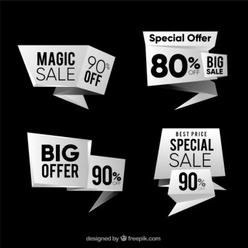 Free vector Pack of modern discount banners #19840