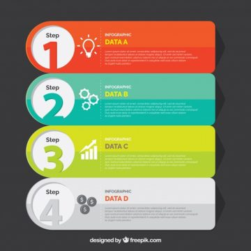 Free vector Professional infographic steps template #23223