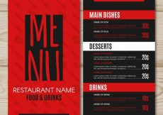 Free vector Restaurant menu, red and black #19429
