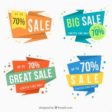 Free vector Set of four super sales banners #19846