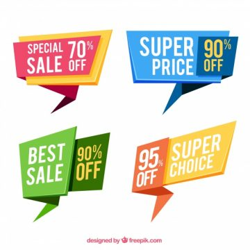 Free vector Set of special sale banners #19832