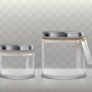Free vector Set of vector transparent glass jars for storage of food products, canning and preserving, #23121