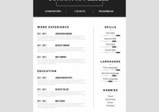 Free vector Sophisticated resume template #18985