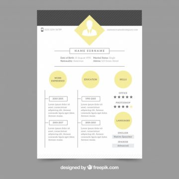free vector sophisticated resume template 22753 my graphic hunt