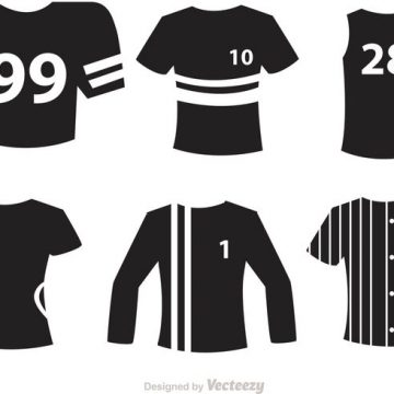 Free vector Sport Jersey Black Icons Vectors #23154