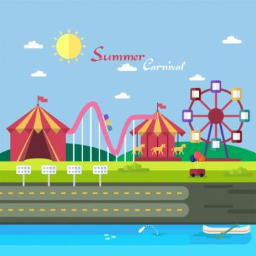 Free vector Summer carnival background design #21160