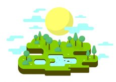 Free vector Sunny Park Vector Illustration #22650