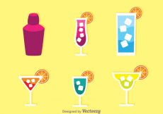 Free vector Alcohol Cocktail Icons #20398