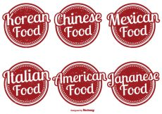Free vector Assorted Food Label Set #19464