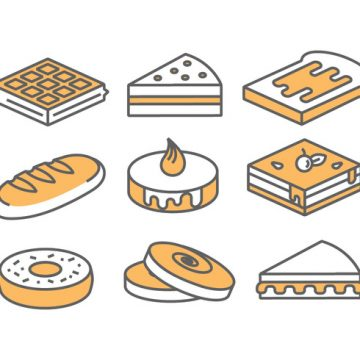 Free vector Bakery / Cake Icons #20139