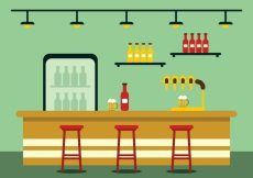 Free vector Bar Illustration With Beer Pump #22938
