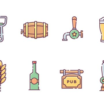 Free vector Beer Drinking Icons #20486
