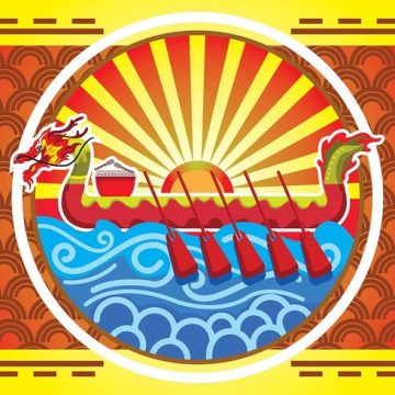 Free vector Dragon Boat Festival Poster Background #22802