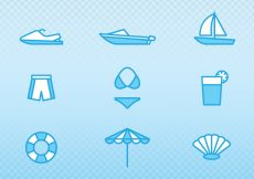 Free vector Holiday And Summer Outline Icons #20612