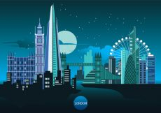 Free vector Vector Illustration The Shard and The London Skyline #19756