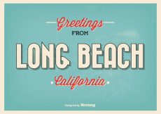Free vector Long Beach Retro Greeting Illustration #21052
