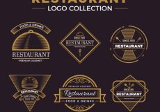 Free vector Vintage pack of restaurant logos #19021