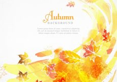 Free vector Watercolor autumnal background with abstract style #22799