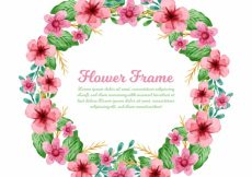 Free vector Watercolor floral wreath #21846