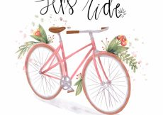Free vector Watercolor vintage bicycle background #23264