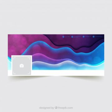 Free vector Waves abstract facebook cover #20189